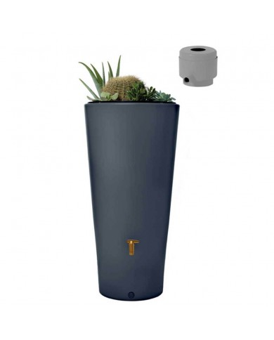 Récupérateur d'eau Kit Vaso 220L graphite