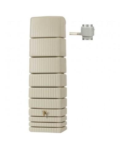 Récupérateur d'eau Kit Cuve Murale Slim 650L Sable