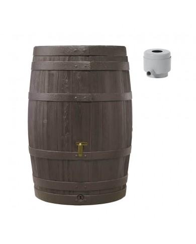 Récupérateur d'eau Kit Tonneau Vino 250L brun