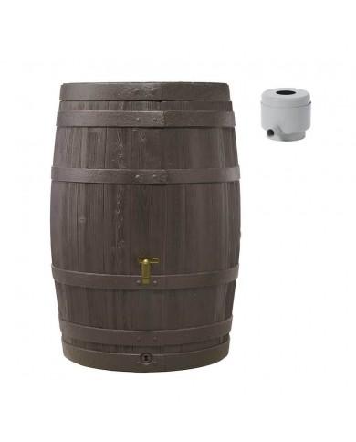 Récupérateur d'eau Kit Tonneau Vino 400L brun