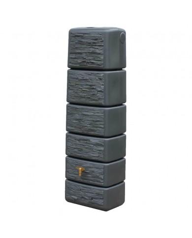 Récupérateur d'eau Kit Cuve Slim Stone Murale 300L Granite