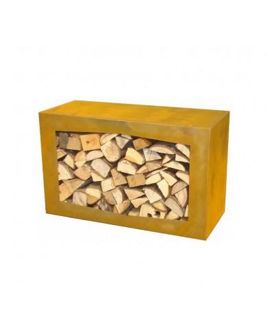 Braséro Woodbox Corten