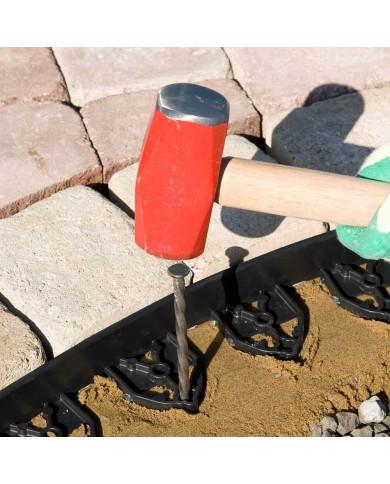 Ancrage bordure de jardin