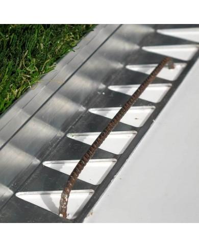 Bordure de jardin Tcourb Aluminium (h:50mm)