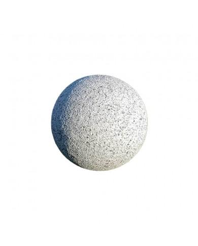 Sphère granit gris boucharde diamètre 20cm