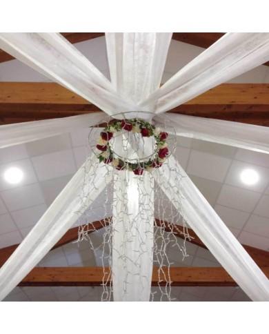 Voile de décoration blanc 1,6mX100m