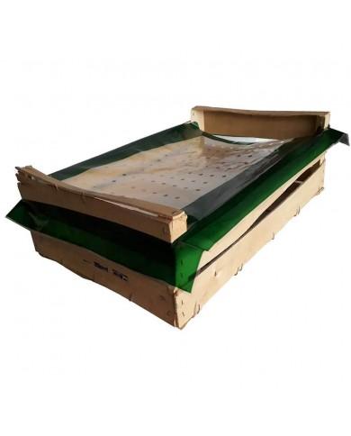 Coiffe à encoches verte 50 x 30 cm (2000)