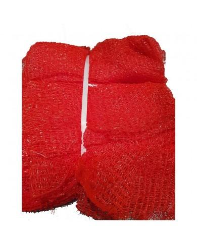 Sac filet tricoté raschel rouge 50x78 cm (100)
