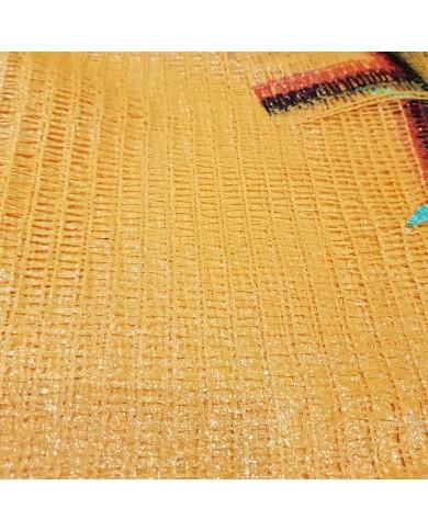 Sac filet tricoté raschel jaune 40x60cm (100)