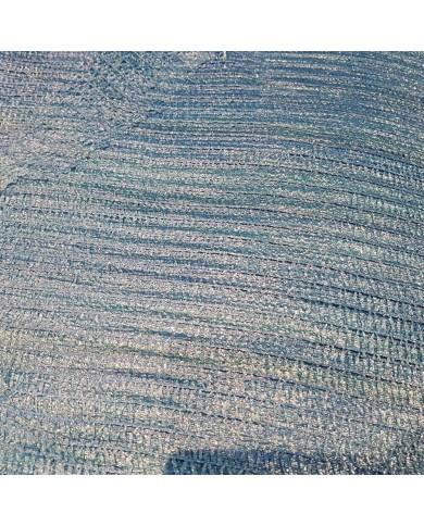 Sac filet tricoté raschel bleu 34x47cm (200)