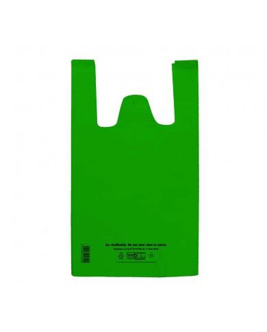 Sac réutilisable et recyclable vert 26 x 12 x 45cm (500)