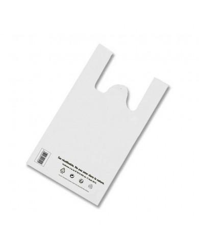 Sac réutilisable et recyclable blanc 30 x 14 x 50 cm (500)